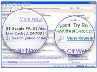 KeywordSpy SEO for FireFox screen shot